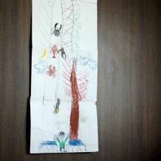森の様子:5歳のお子さんが描いてくれた宝物